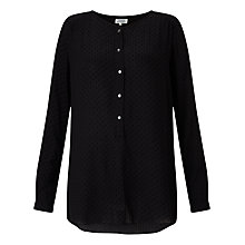 Buy Hartford Henri Blouse, Black Online at johnlewis.com