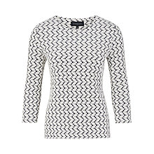 Buy Viyella Petal Texture Jersey Top, Navy Online at johnlewis.com