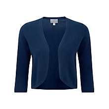 Buy Pure Collection Everly Cashmere Shrug, Navy Online at johnlewis.com