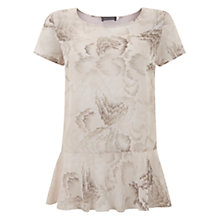 Buy Mint Velvet Fleur Print Peplum T-Shirt, Multi Online at johnlewis.com