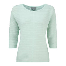 Buy Pure Collection Phoebe Gassato Cashmere Textured Jumper, Opal Online at johnlewis.com