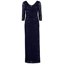 Buy Gina Bacconi Sequinned V-Neck Dress, Spring Navy Online at johnlewis.com