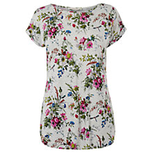 Buy Oasis Rosanna T-Shirt, Mid Grey Online at johnlewis.com