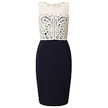 Buy Phase Eight Fitzroy Dress, Navy/Cream Online at johnlewis.com