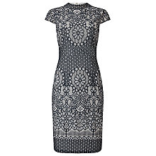 Buy Phase Eight Fran Lace Dress, Navy/Cream Online at johnlewis.com