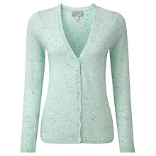 Buy Pure Collection Diana Cashmere V Neck Cardigan, Opal Fleck Online at johnlewis.com