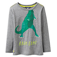 Buy Joules Boys' Dinosaur Appliqué Sweatshirt, Grey/Green Online at johnlewis.com