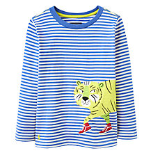 Buy Joules Boys' Junior Jack Tiger Top, Blue/Multi Online at johnlewis.com