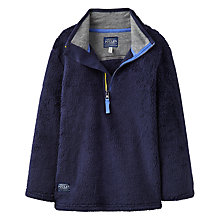 Buy Joules Boys' Woozle Half Zip Fleece, Navy Online at johnlewis.com