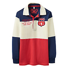 Buy Joules Boys' Winner Union Jack Rugby Shirt, Red/Multi Online at johnlewis.com
