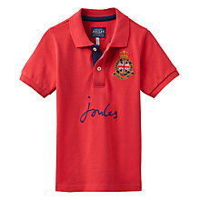 Buy Joules Boys' Junior Harry Polo Shirt, Red Online at johnlewis.com
