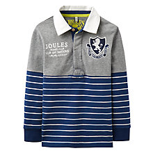 Buy Joules Boys' Mischiefs Stripe Rugby Shirt, Navy/Multi Online at johnlewis.com