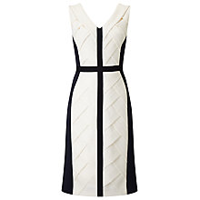 Buy Phase Eight Carly Weave Dress, Navy/Cream Online at johnlewis.com