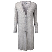 Buy Pure Collection Danielle Fine Wool Longline Cardigan, Heather Dove Online at johnlewis.com