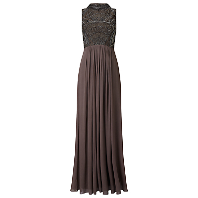 Phase Eight Collection 8 Astri Embellished Full Length Dress, Pewter