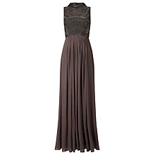 Buy Phase Eight Collection 8 Astri Embellished Full Length Dress, Pewter Online at johnlewis.com