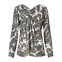 Buy Finery Bransby Entwined Feather Folded Detail Top, Multi Online at johnlewis.com