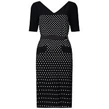 Buy Finery Arno Studded Dress, Black Online at johnlewis.com
