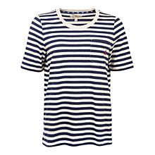 Buy Barbour Brae Stripe T-Shirt, Ecru Marl/Navy Online at johnlewis.com