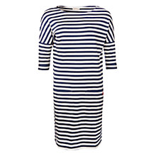 Buy Barbour Brae Stripe Tunic Dress, Ecru Marl/Navy Online at johnlewis.com