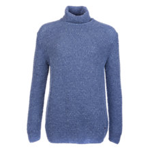 Buy Barbour Larkspur Roll Neck Jumper, Faded Blue Online at johnlewis.com