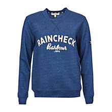 Buy Barbour Brae Raincheck Sweatshirt, Navy Online at johnlewis.com