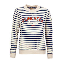 Buy Barbour Epler Raincheck Stripe Sweatshirt, Vanilla/Navy Online at johnlewis.com