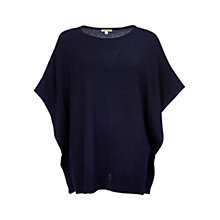 Buy Barbour Brae Knitted Poncho, Navy Online at johnlewis.com