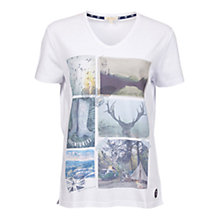 Buy Barbour Brae Postcard T-Shirt, White Online at johnlewis.com
