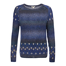 Buy Barbour Icefield Fairisle Jumper, Navy Online at johnlewis.com