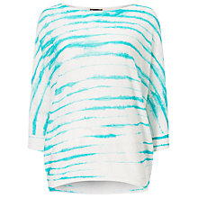 Buy Phase Eight Brunetta Stripe Linen Jumper, Aqua Online at johnlewis.com