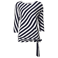 Buy Phase Eight Danika Stripe Top, Navy/White Online at johnlewis.com