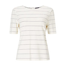 Buy Phase Eight Samantha Stripe Top, Ivory/Navy Online at johnlewis.com