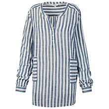 Buy Fat Face Stripe Cotton Beach Shirt, Indigo Online at johnlewis.com