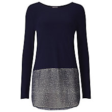 Buy Phase Eight Carys Spot Top, Navy Online at johnlewis.com