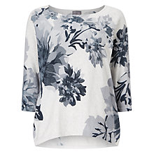 Buy Phase Eight Breana Floral Print Jumper, White/Grey Online at johnlewis.com