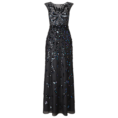 Phase Eight Collection 8 Betsy Sequinned Full Length Dress, Petrol Blue