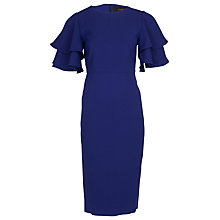 Buy Yanny London Frill Sleeved Pencil Dress Online at johnlewis.com