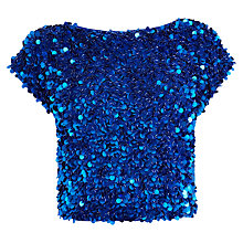 Buy Coast Suletta Sequin Top, Cobalt Online at johnlewis.com