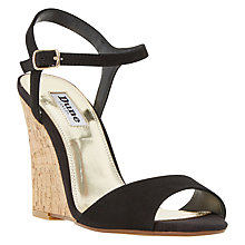 Buy Dune Monteca Wedge Heeled Sandals, Black Online at johnlewis.com