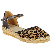 Buy John Lewis Karris Two Part Espadrilles, Leopard Online at johnlewis.com