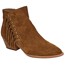 Buy Ash Lenny Fringed Ankle Boots, Russet Suede Online at johnlewis.com
