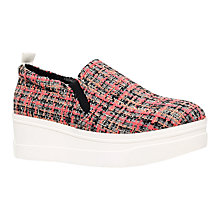 Buy KG by Kurt Geiger Lizard Flatform Trainers, Pink Comb Online at johnlewis.com