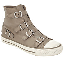Buy Ash Virgin Buckle Trainers, Perkish Grey Leather Online at johnlewis.com