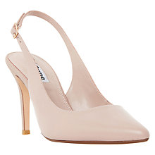 Buy Dune Cathy Sling Back Stiletto Court Shoes, Blush Leather Online at johnlewis.com