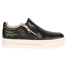Buy Ash Jordy Flatform Slip On Trainers, Black Online at johnlewis.com