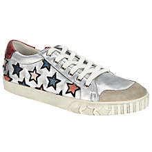 Buy Ash Majestic Star Motif Trainers, Silver/Multi Online at johnlewis.com