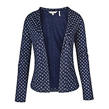 Buy Fat Face Batik Ditsy Cover Up Jacket, Navy Online at johnlewis.com