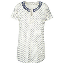 Buy Fat Face Bude Batik Ditsy T-Shirt, Ivory Online at johnlewis.com