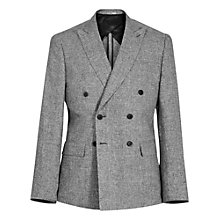 Buy Reiss Luxor Double Breasted Linen Suit Jacket, Grey Online at johnlewis.com